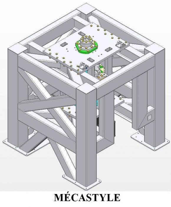 Banc de test assemblé étudié calculé et développé par Mécastyle