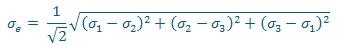 calcul de structure - critère de Von Mises