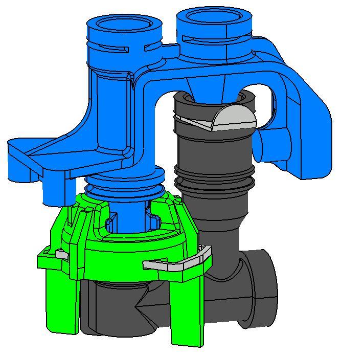 Assemblage circuit hydraulique de chaudière