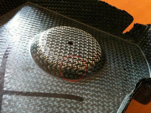 Défauts pièces matériaux composites manque matrice